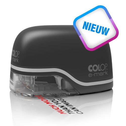 Nieuw: de COLOP E-mark - Full color stempelen