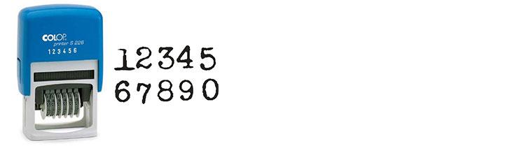 Colop Printer alleen cijfers