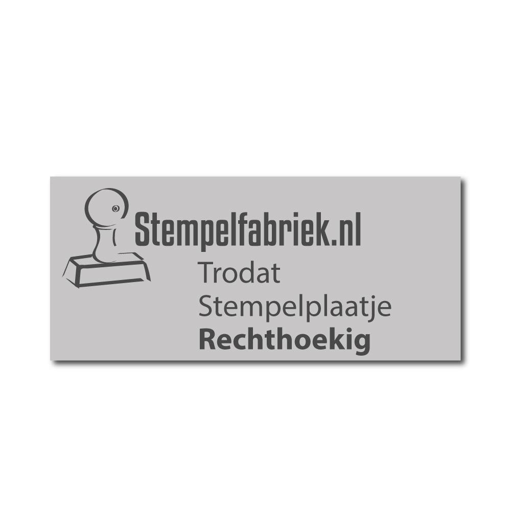 stempelplaatje RECHTHOEKIG