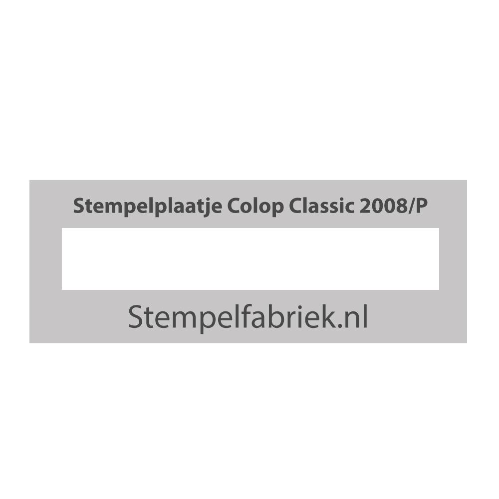 Tekstplaatje Colop Classic 2008/P en 2010/P