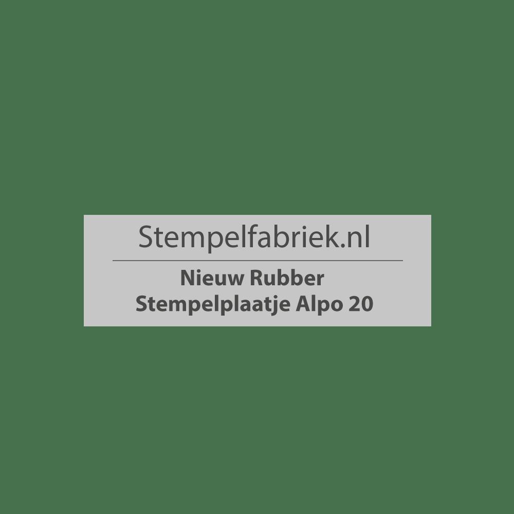 Stempelplaat Alpo 20