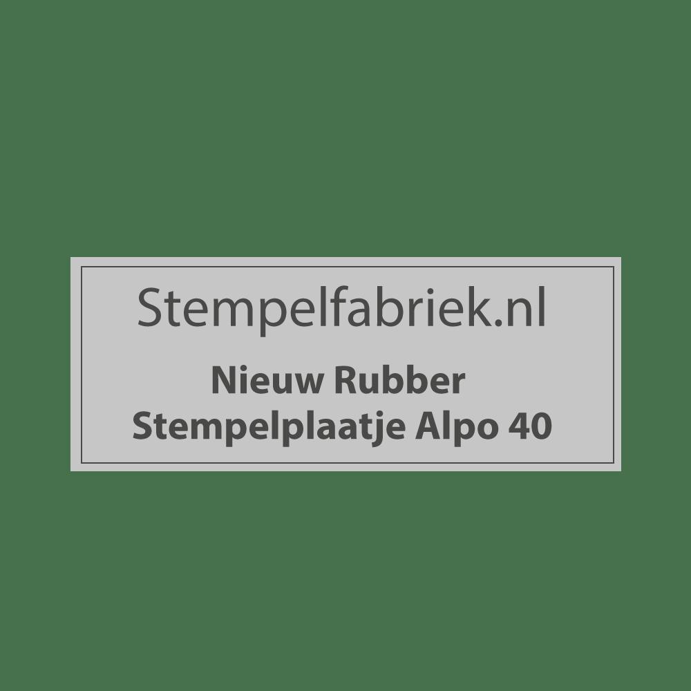 Stempelplaat Alpo 40