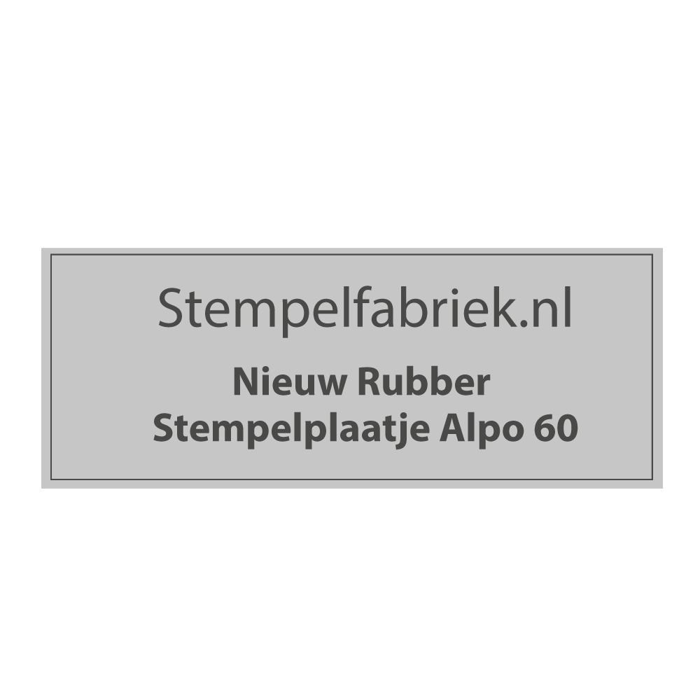 Stempelplaat Alpo 60