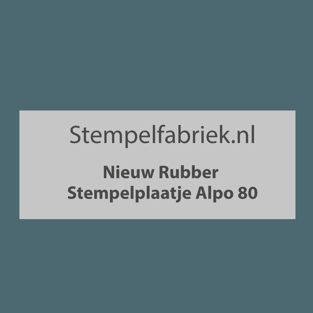 Stempelplaat Alpo 80