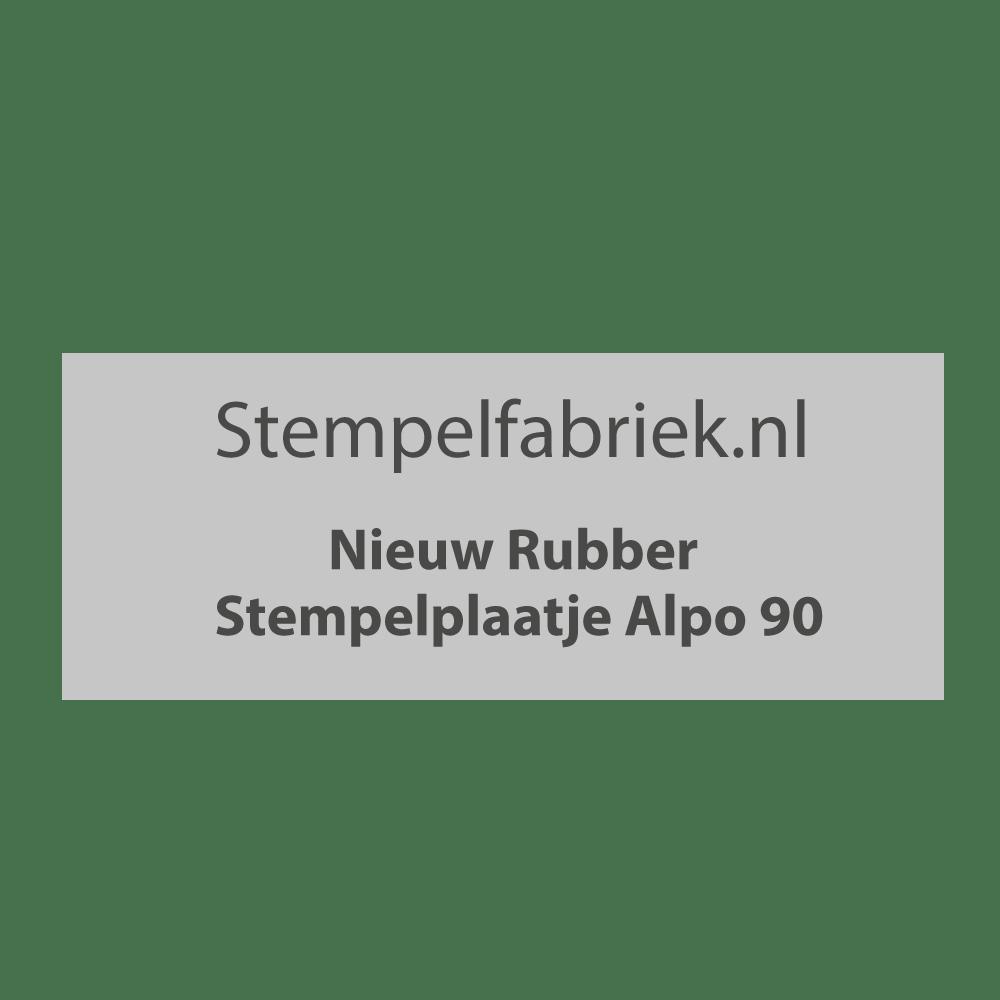 Stempelplaat Alpo 90