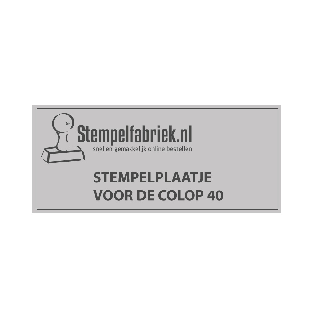 Stempelplaatje Colop Printer 40
