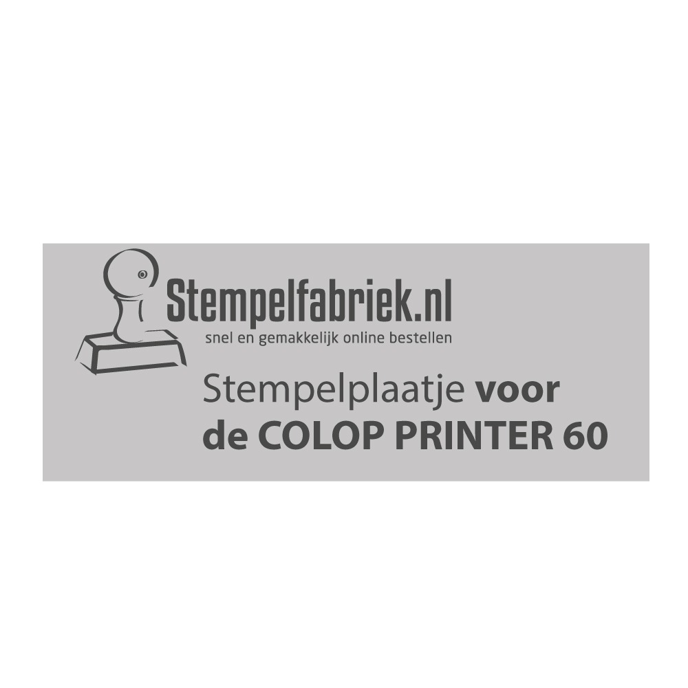 Colop Printer 60 tekstplaatje