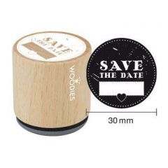 Houten handstempel Woodies Save the Date