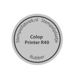 Tekstplaatje Colop Printer R40