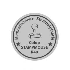 Stempelplaatje Stamp Mouse R40