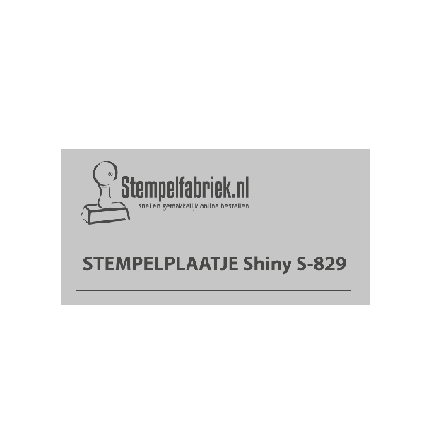 Tekstplaatje Shiny Printer S-829