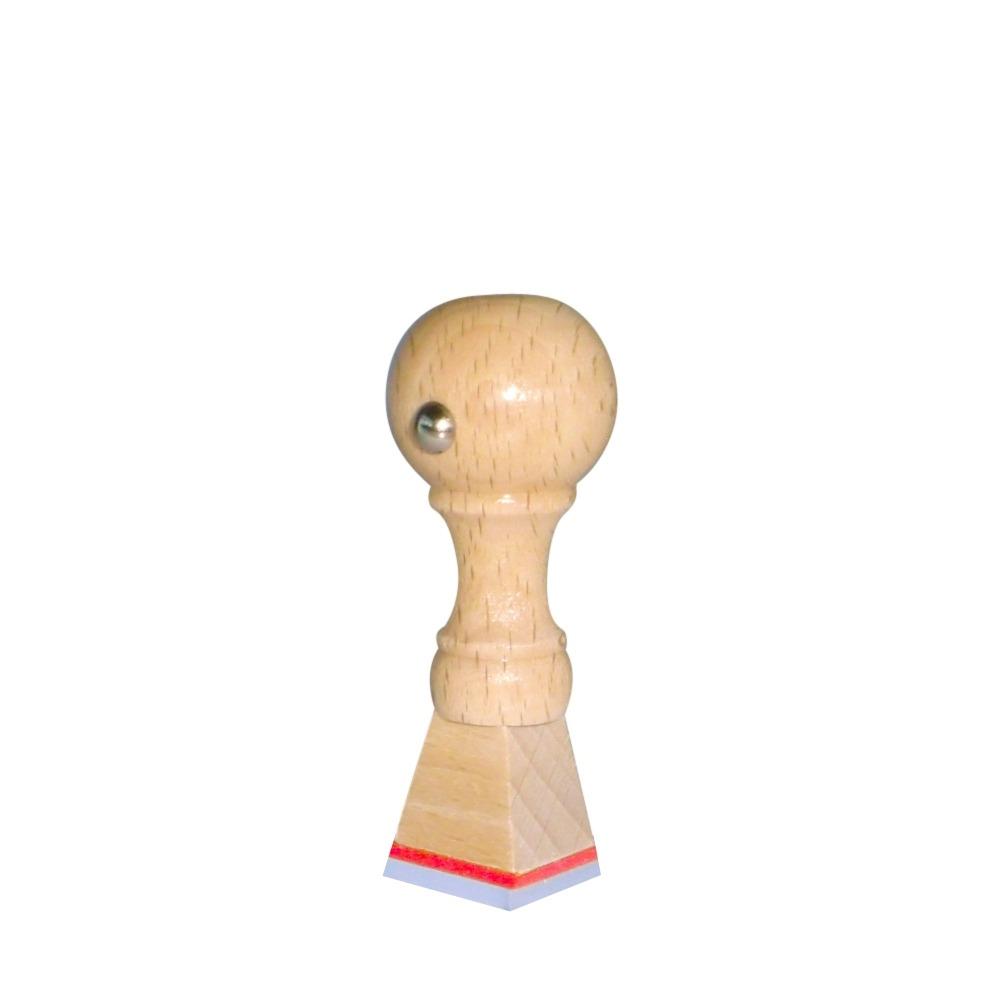 Houten handstempel 15x15 mm