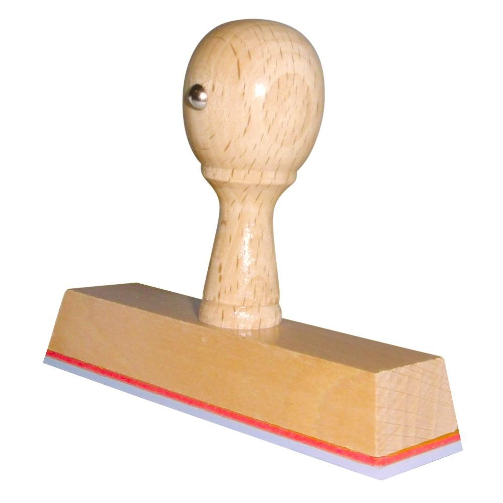Houten handstempel 100x25 mm
