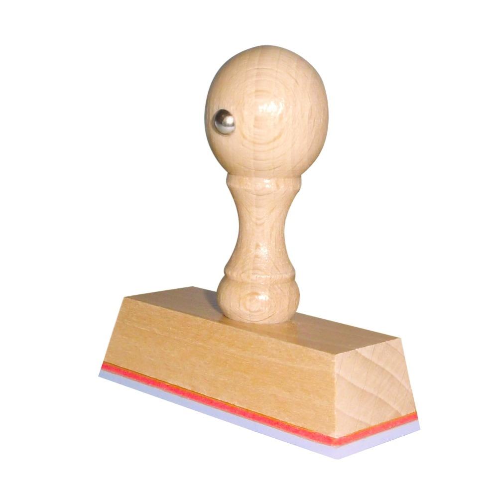 Houten handstempel 65x25mm