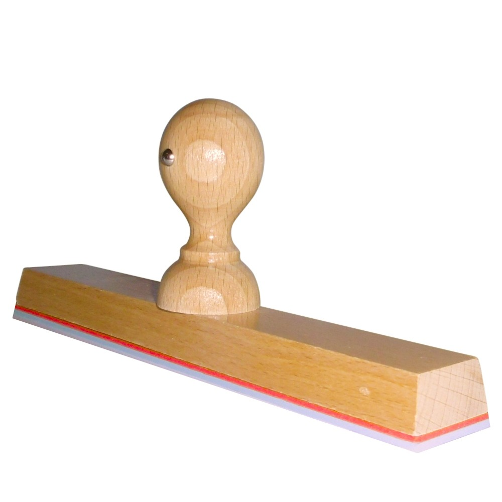 Grote houten handstempel 200x30 mm