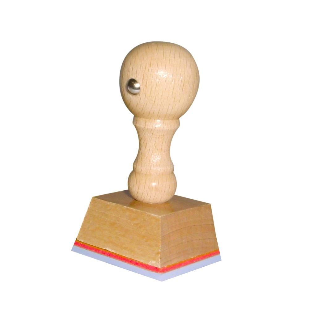 Houten handstempel 35x30 mm