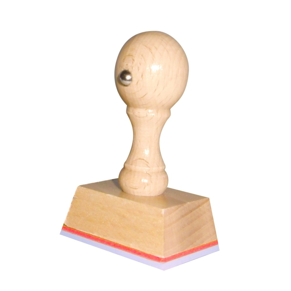 Houten handstempel 45x30 mm.
