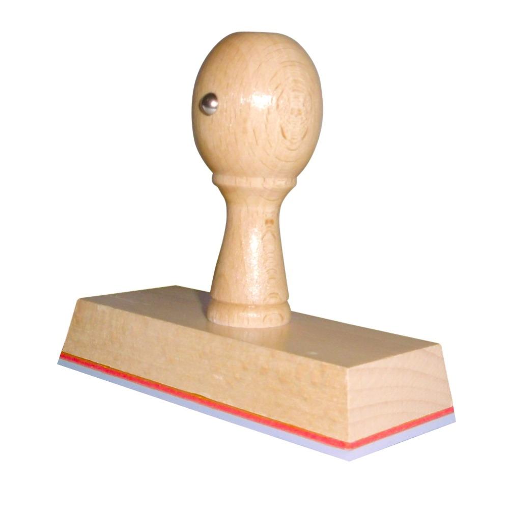 Houten handstempel 100x40 mm