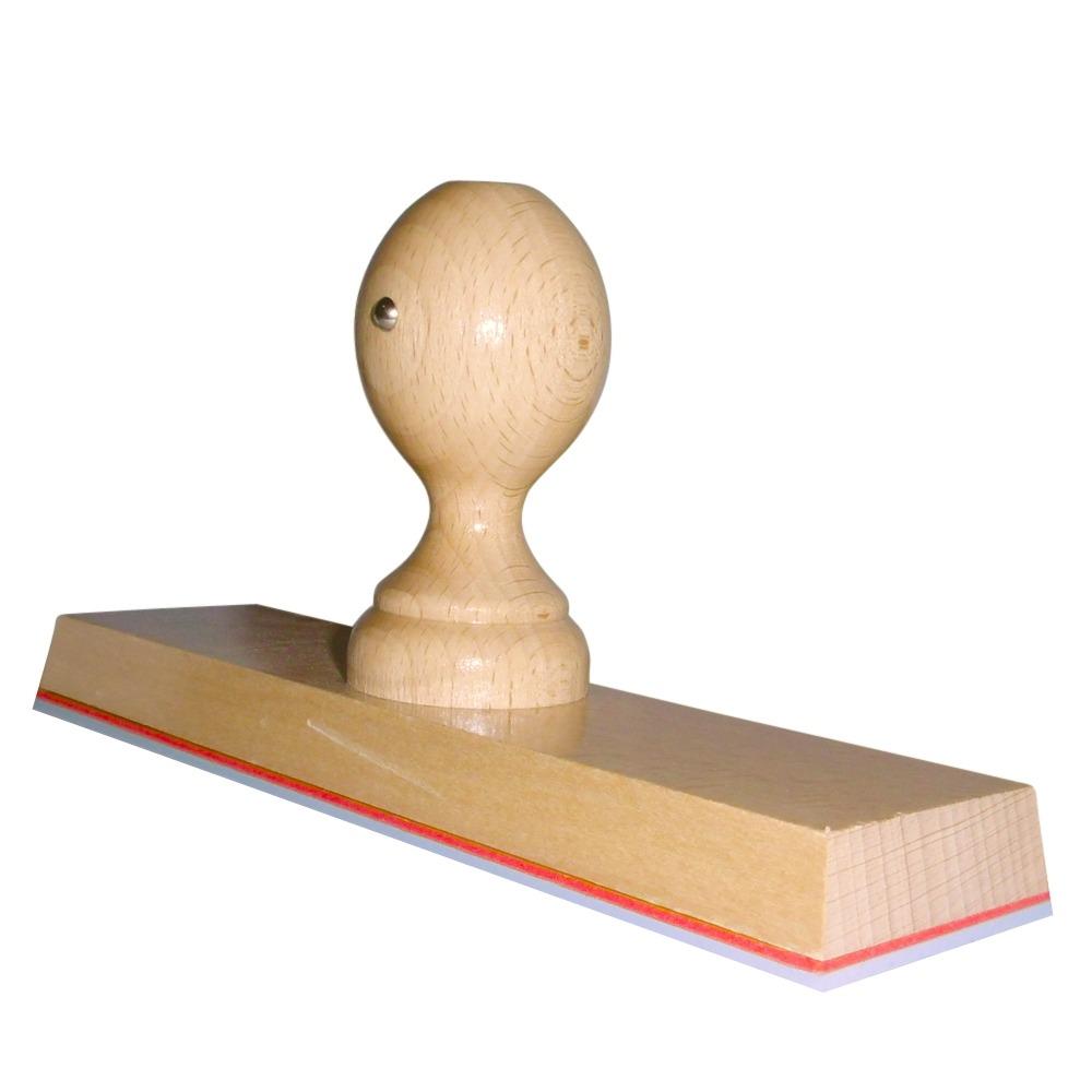 Grote houten handstempel 200x50 mm
