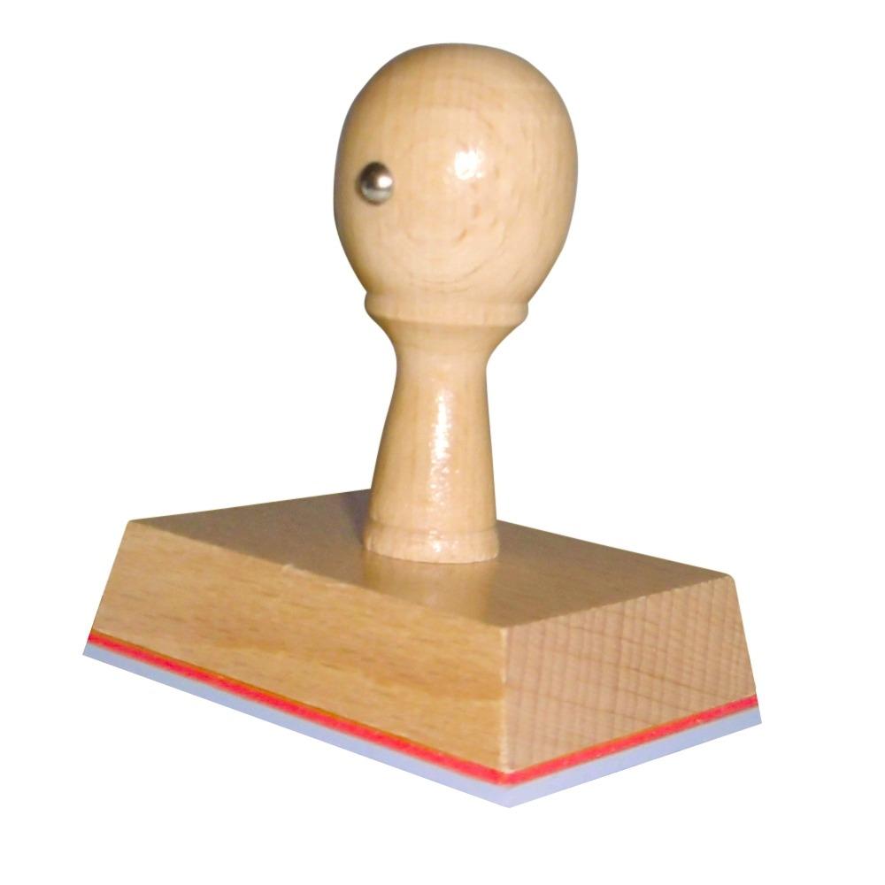 Houten handstempel 65x50 mm.