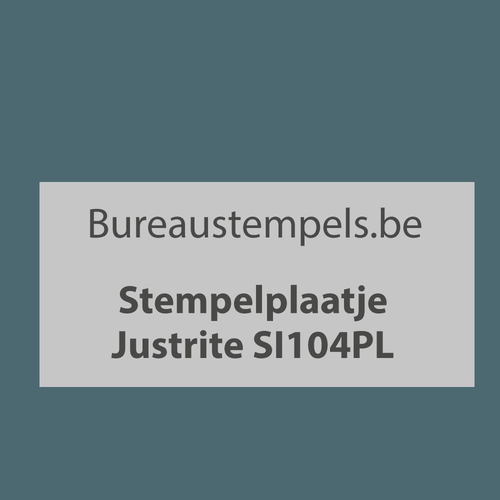 Stempelplaat Justrite SI104PL