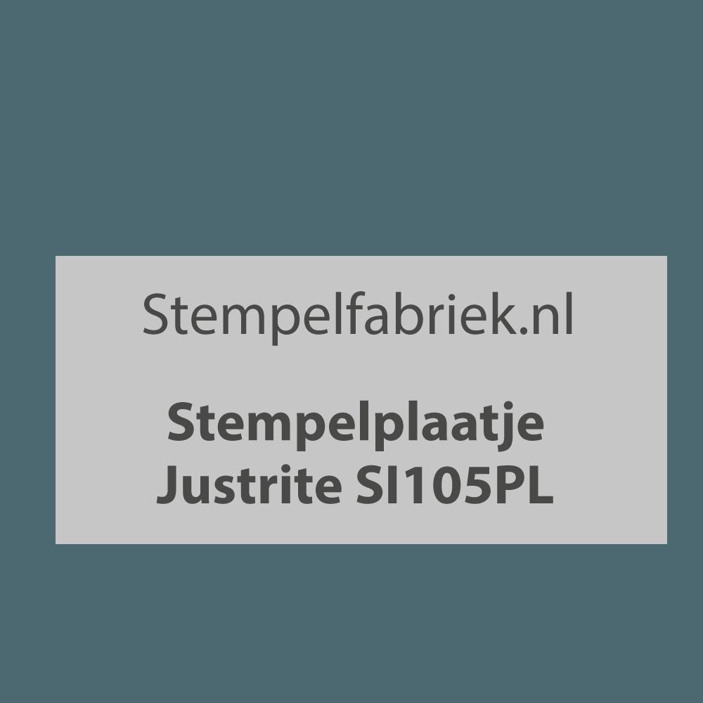 Stempelplaat Justrite SI105PL