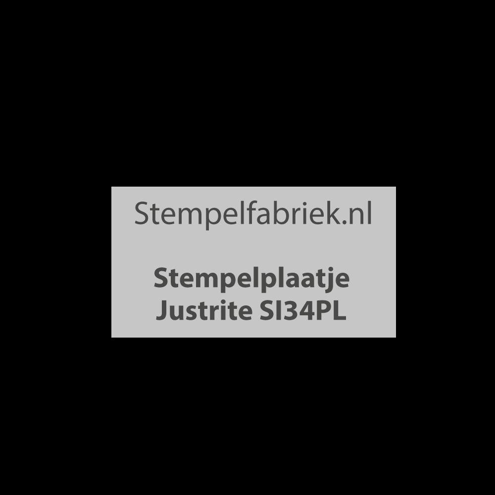 Stempelplaat Justrite SI34PL