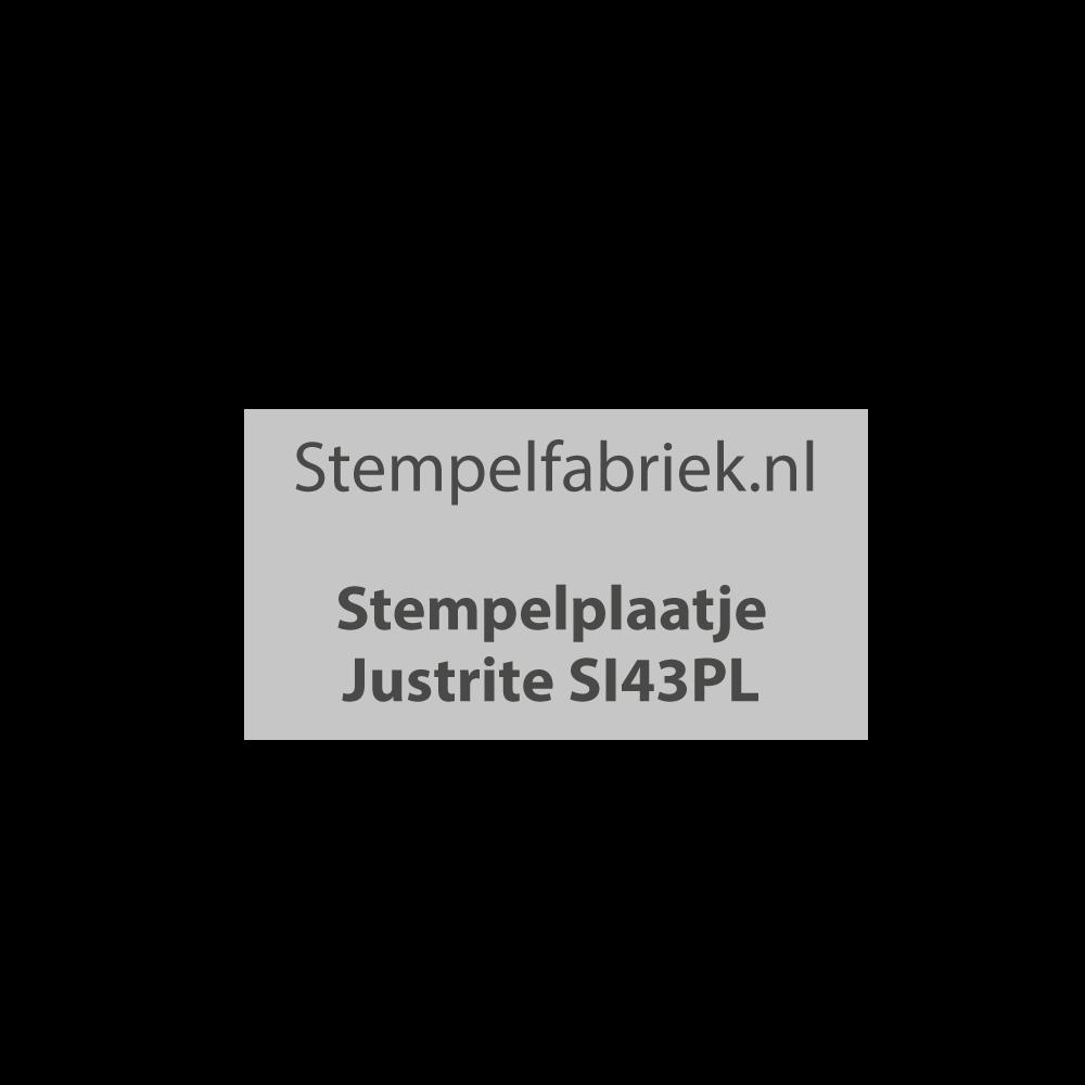 Stempelplaat Justrite SI43PL