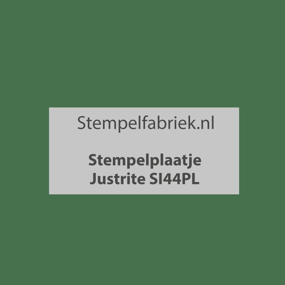Stempelplaat Justrite SI44PL