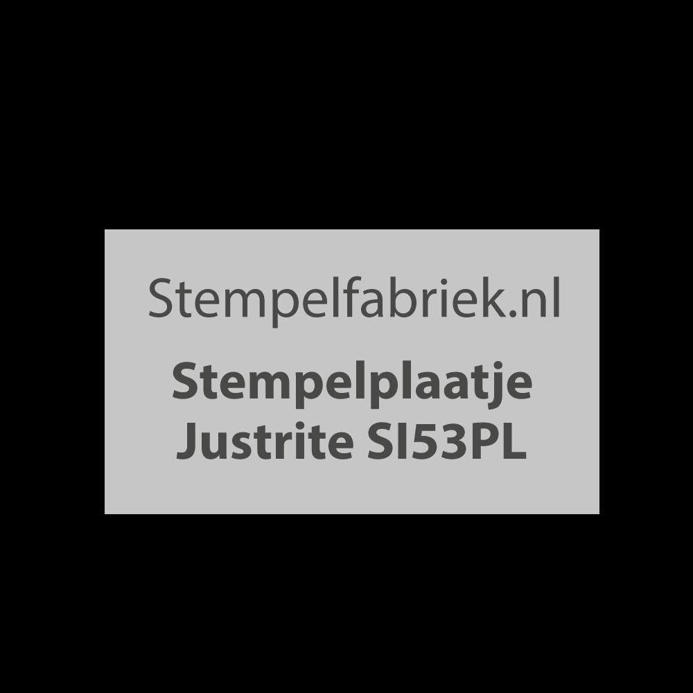 Stempelplaat Justrite SI53PL