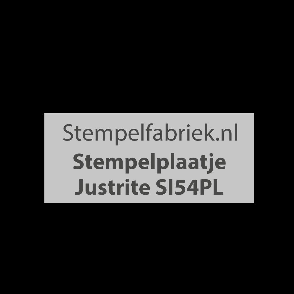 Stempelplaat Justrite SI54PL