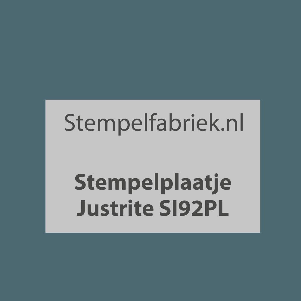 Stempelplaat Justrite SI92PL