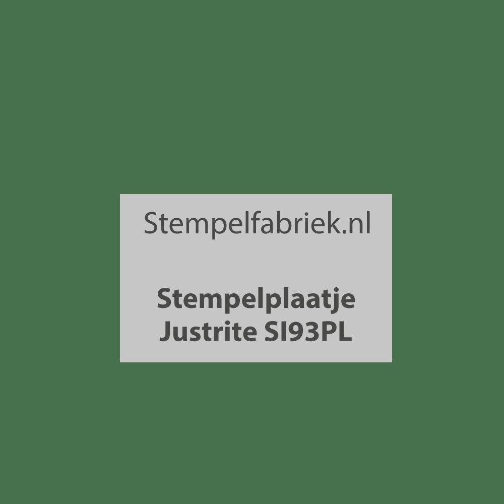 Stempelplaat Justrite SI93PL
