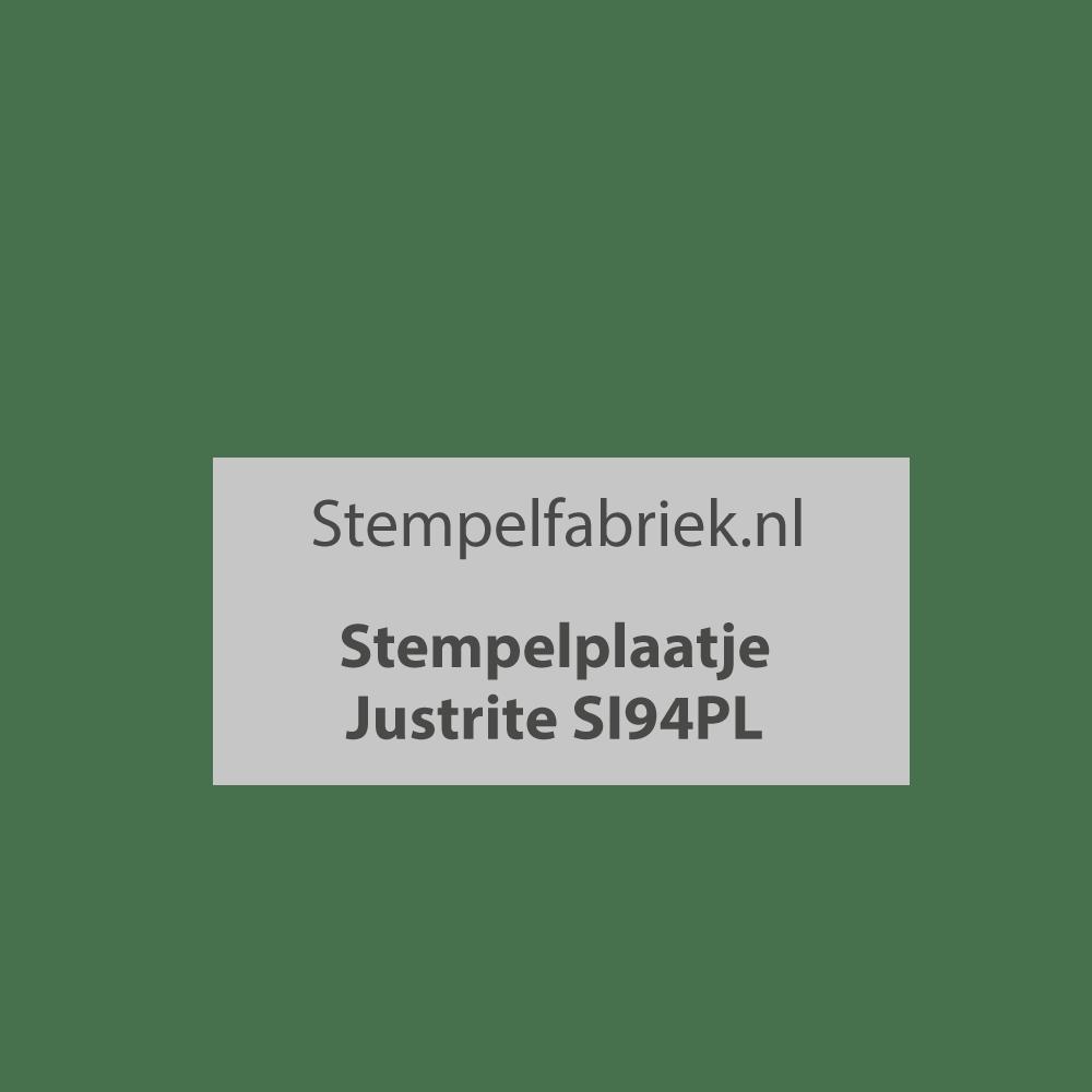 Stempelplaat Justrite SI94PL