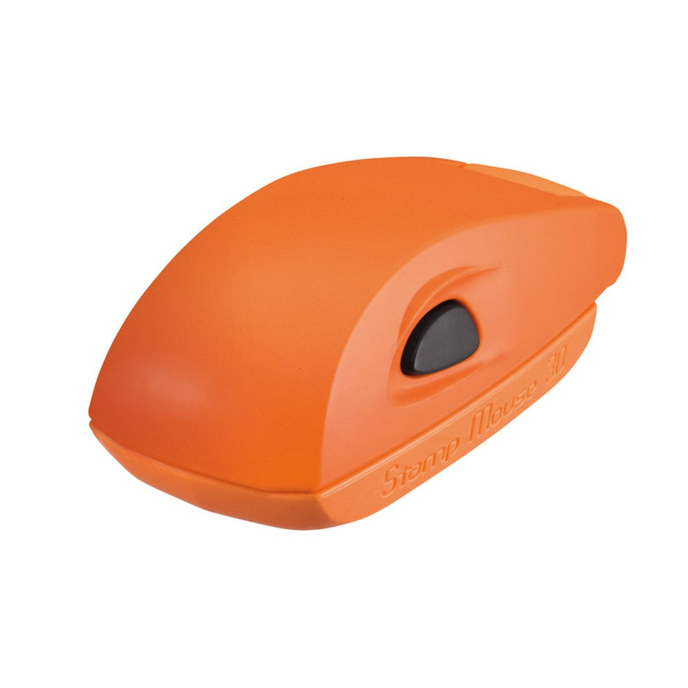 Stamp Mouse 30 met oranje montuur