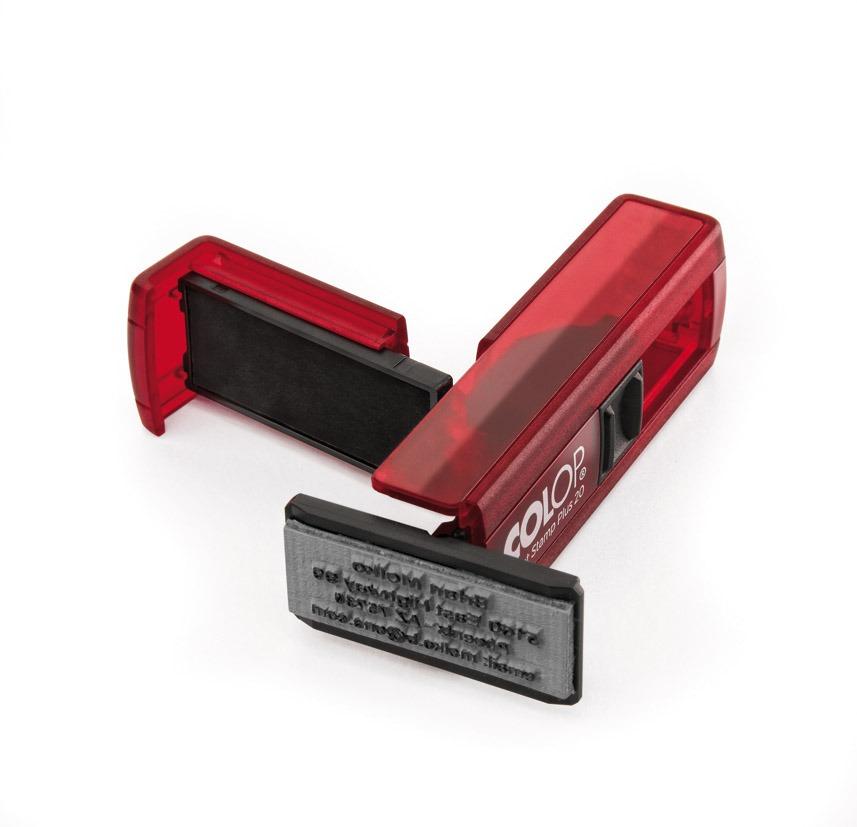 Colop pocket stempel 20 met rood montuur