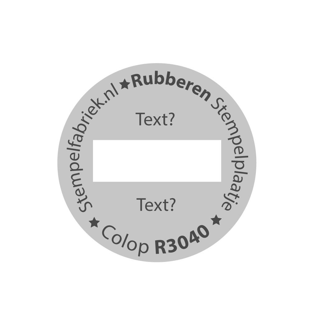 Stempelplaat Colop eXpert R3040