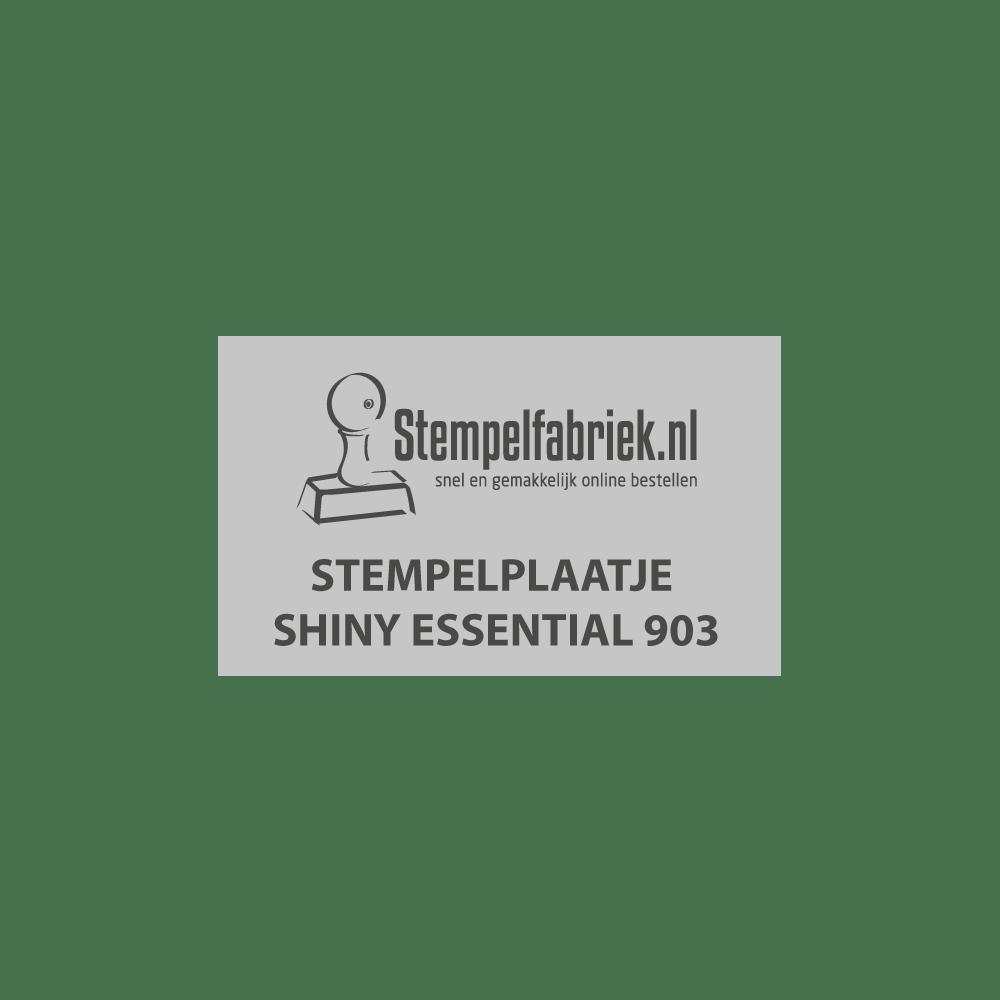 Tekstplaatje Shiny Essential 903