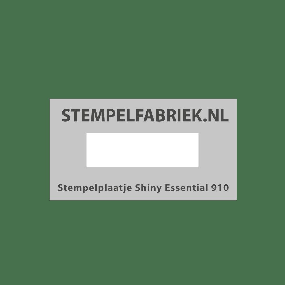 Tekstplaatje Shiny Essential 910