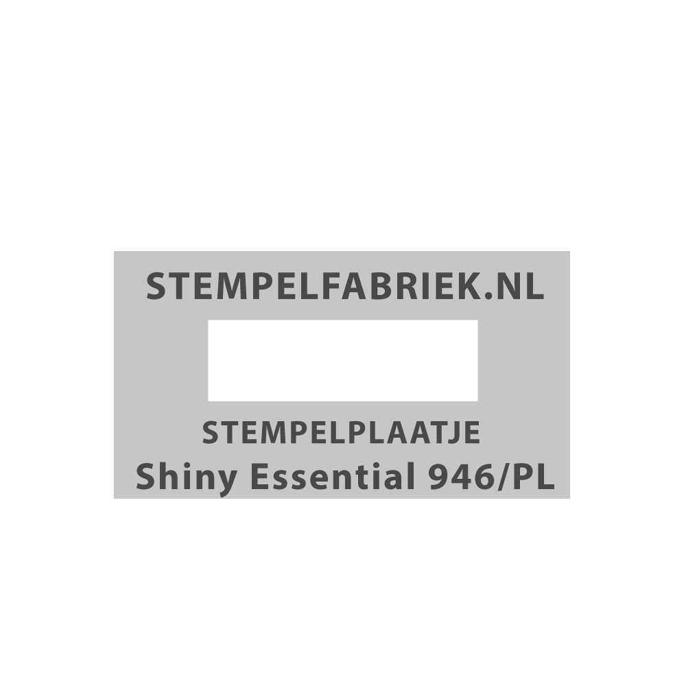 Tekstplaatje Shiny Essential 946/PL