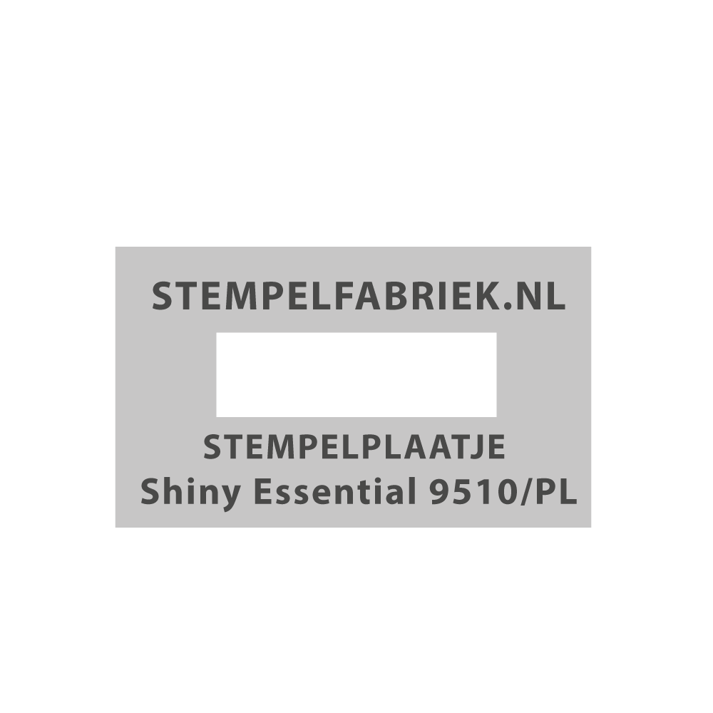 Tekstplaatje Shiny Essential 9510/PL