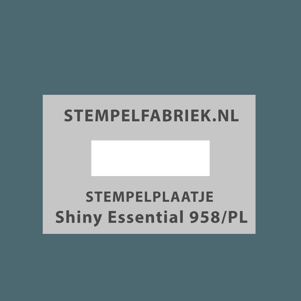 Tekstplaatje Shiny Essential 958/PL