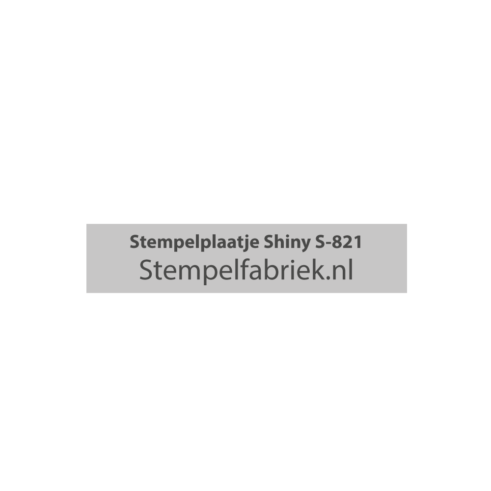 Tekstplaatje Shiny Printer S-821
