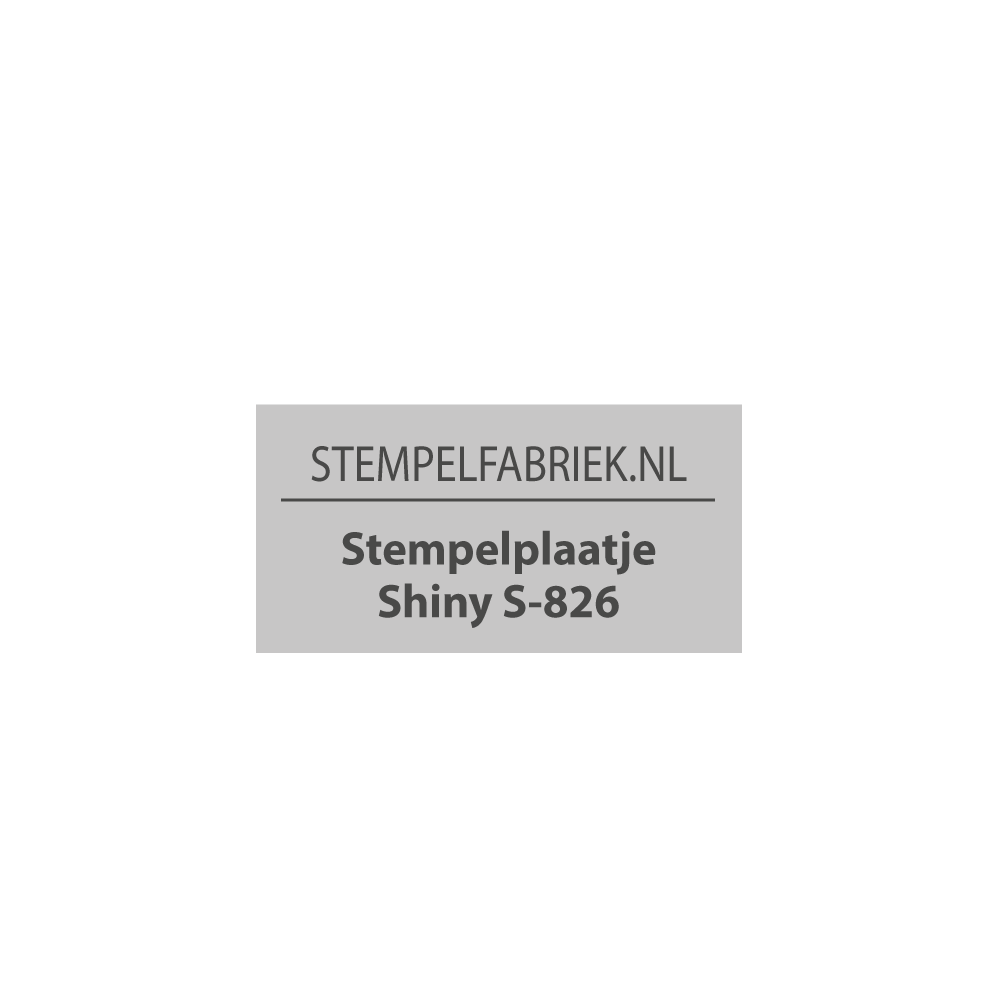 Tekstplaatje Shiny Printer S-826