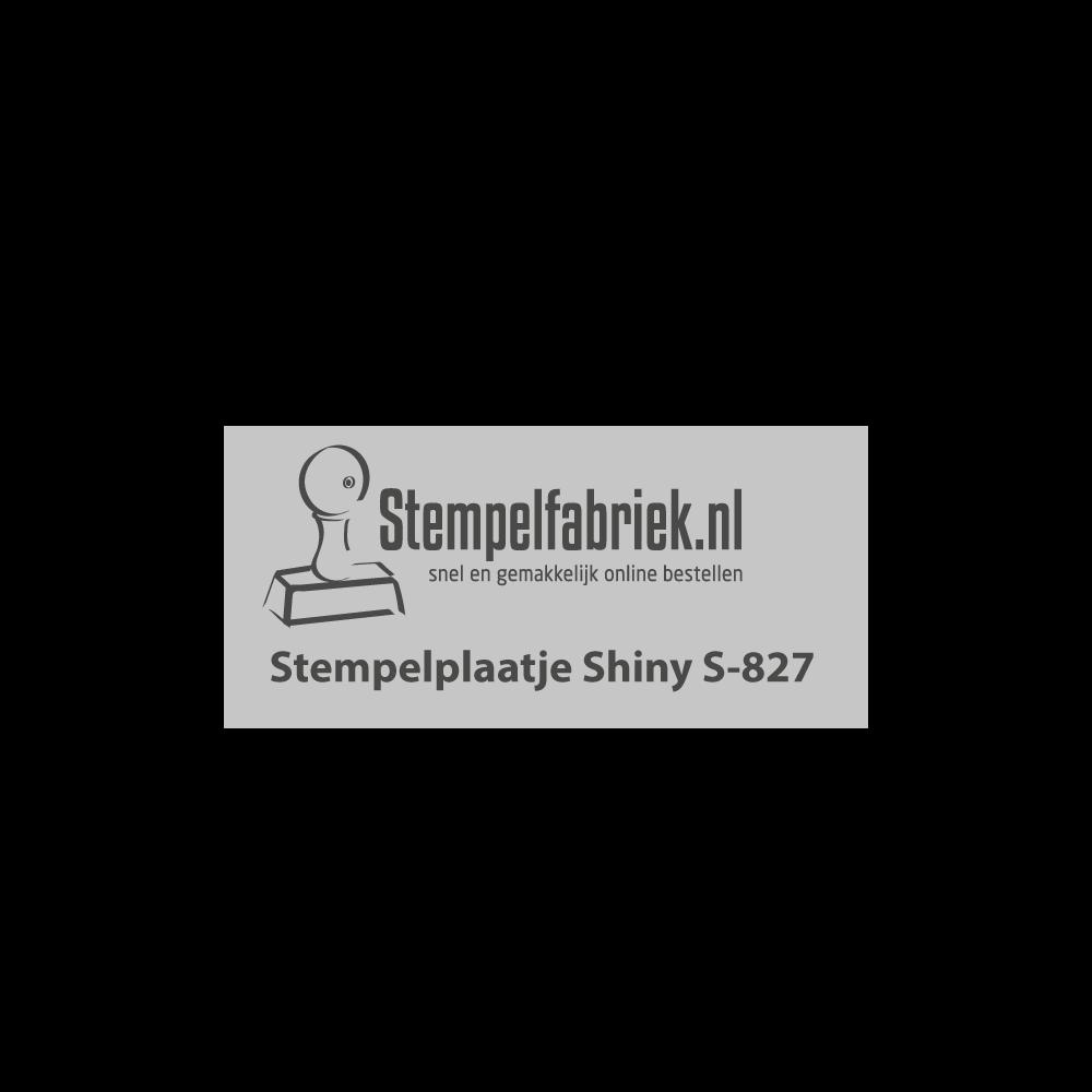 Tekstplaatje Shiny Printer S-827