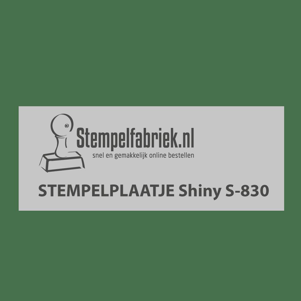 Tekstplaatje Shiny Printer S-830
