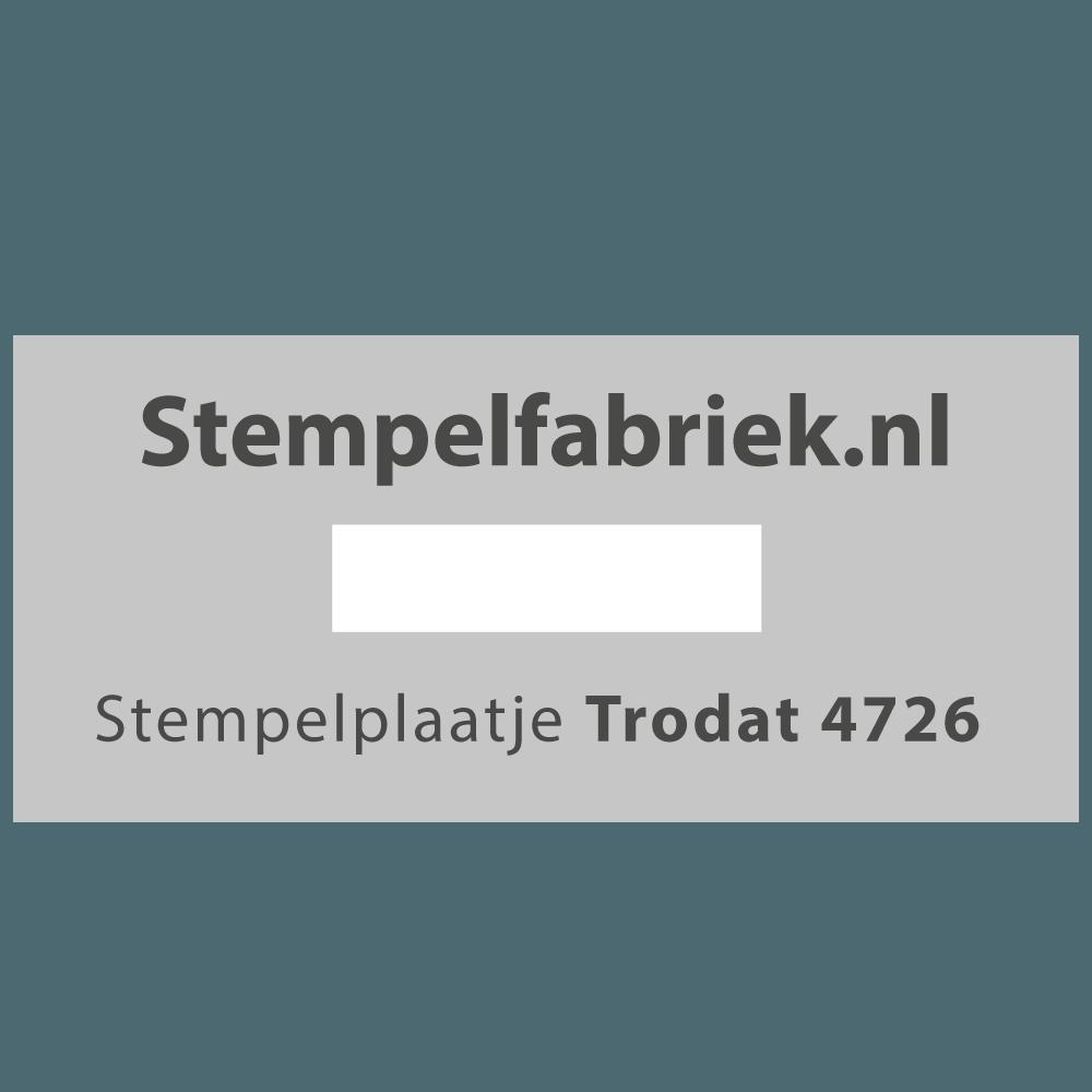 Stempelplaat Trodat Printy 4726