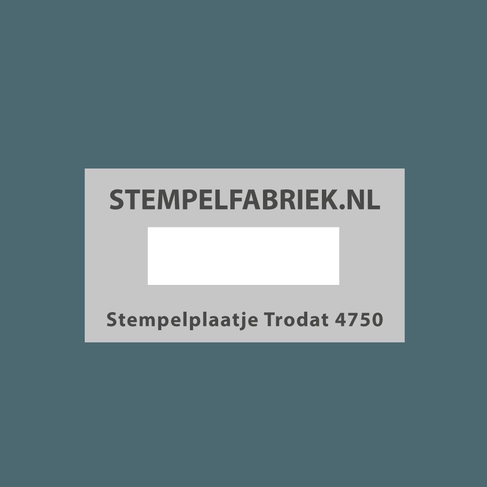 Stempelplaat Trodat Printy 4750