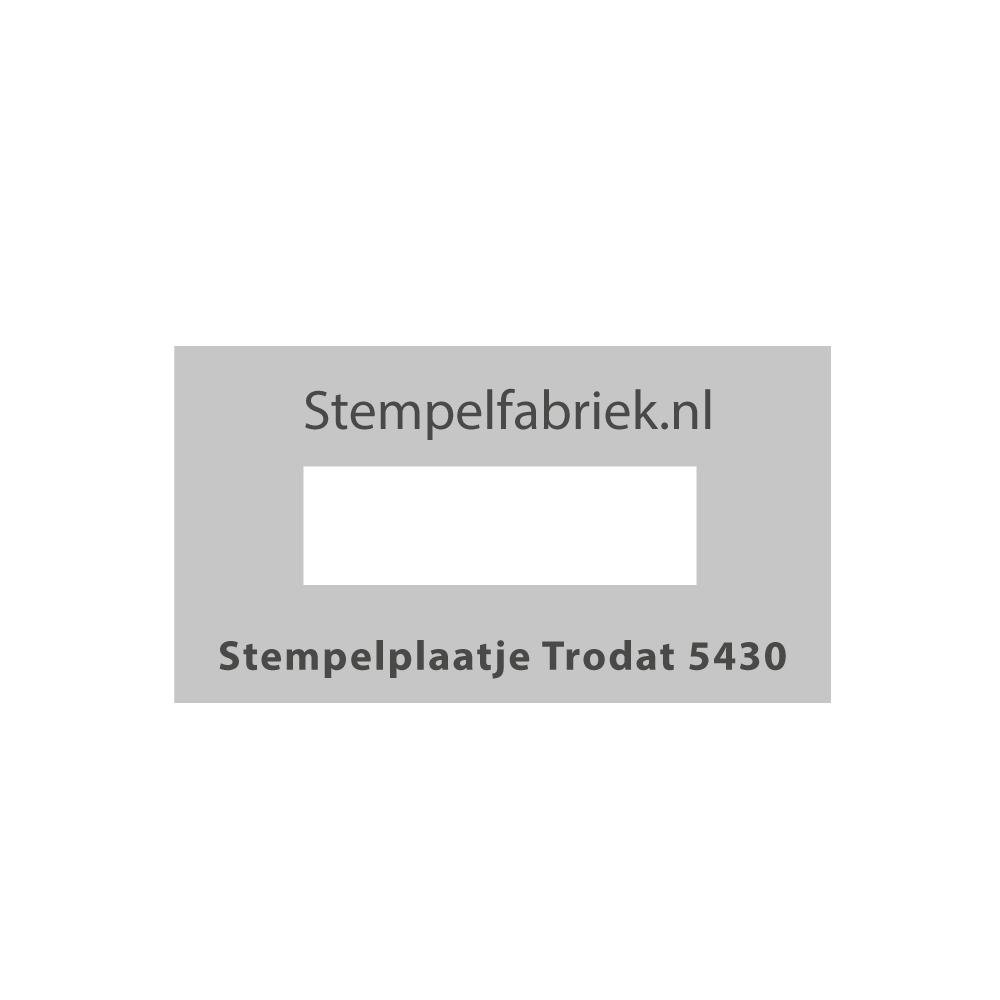 Stempelplaat Trodat Professional 5430 / 5431