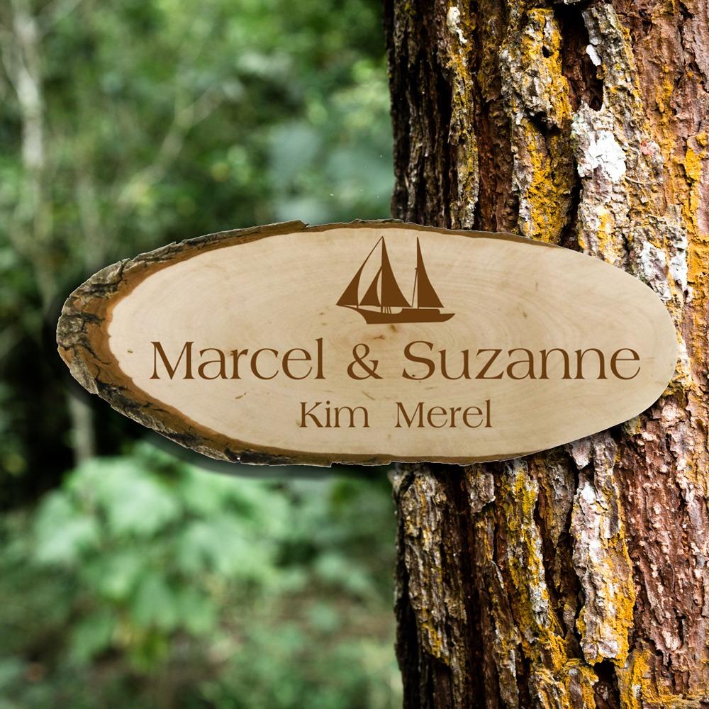 Steigerhout naambord